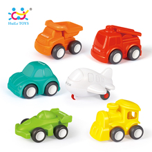 6PCS Lot HUILE TOYS 3117 Baby Toys Great Pull Back Car Candy