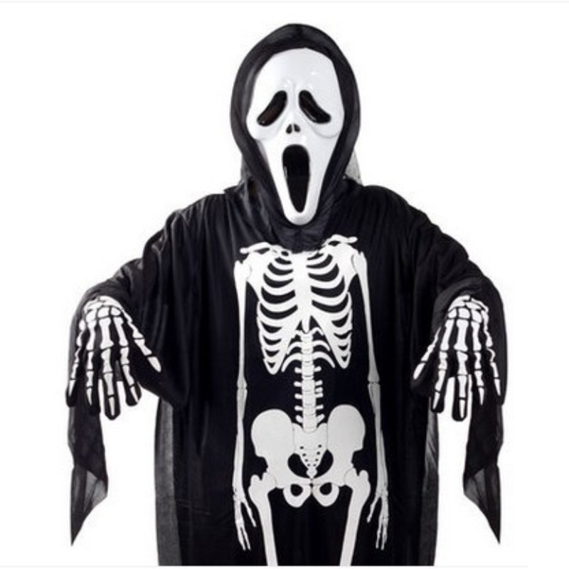 Halloween Costume Skull Skeleton Demon Ghost Cosplay Costumes Adults Children & Kids Carnival Masquerade Robes Scary Mask