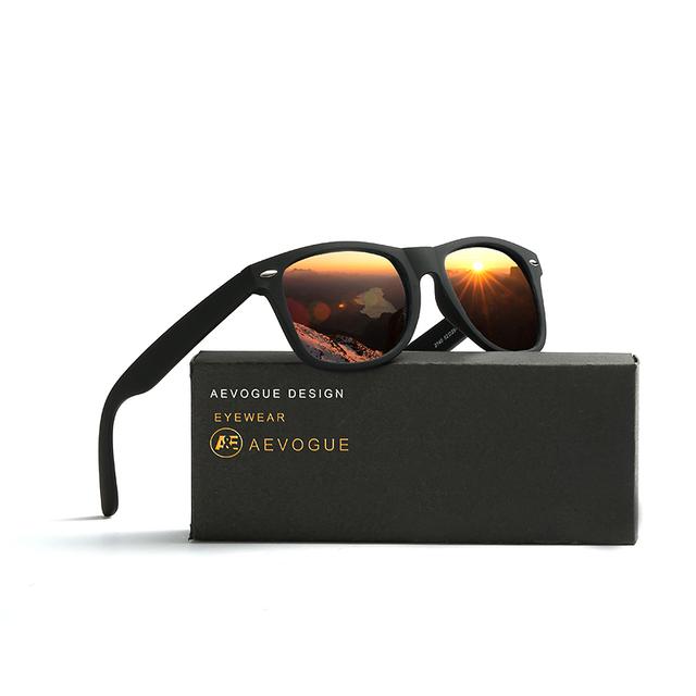 Polarized Orange Lens Square Men's Sunglasses