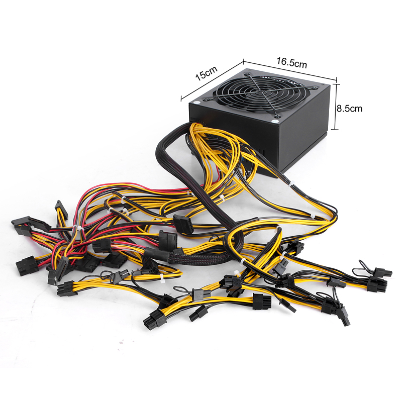 1600w PC Power Supply for PSU Antminer S7 S9 L3+ D3 A4 A6 741 E9 Miner Machine Server Mining Board Bitmain
