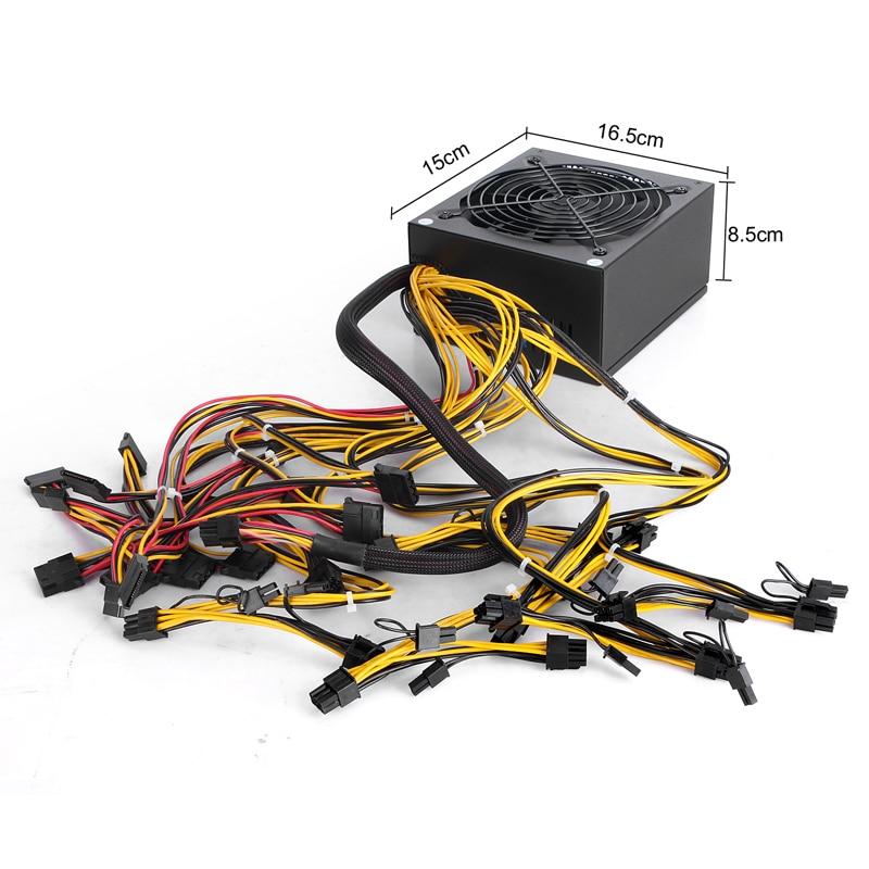 1600w PC Power Supply for PSU Antminer S7 S9 L3+ D3 A4 A6 741 E9 Miner Machine Server Mining Board Bitmain