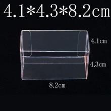 8.2 × 4.3 × 4.1 センチ PVC クリアマッチ箱トミーおもちゃの車のモデル 1/64 トミカホットウィール防塵表示保護ボックス 100 ピース