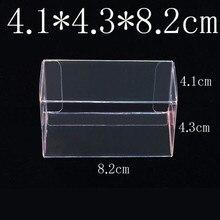 8.2X4.3X4.1 سنتيمتر PVC واضح علبة الثقاب تومي سيارات لعبة نموذج 1/64 TOMICA العجلات الساخنة الغبار واقية عرض صندوق واقي 100 قطع