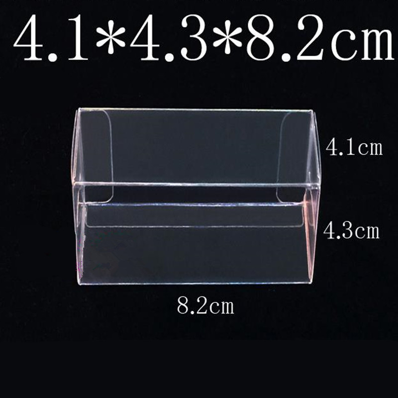 8.2X4.3X4.1CM PVC Clear MATCHBOX TOMY Toy Car Model 1/64 TOMICA Hot Wheels Dust Proof Display Protection Box 100pcs