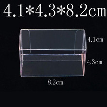 8.2X4.3X4.1CM PVC Clear MATCHBOX TOMY Toy Car Model 1/64 TOMICA Hot Wheels Dust Proof Display Protection Box 100pcs
