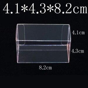 8.2X4.3X4.1CM PVC Clear MATCHBOX TOMY Toy Car Model 1/64 TOMICA Hot Wheels Dust Proof Display Protection Box 100pcs(China)