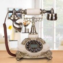 Античный телефон мода Винтаж старомодный бытовой телефон hands-free подсветка/идентификатор звонящего