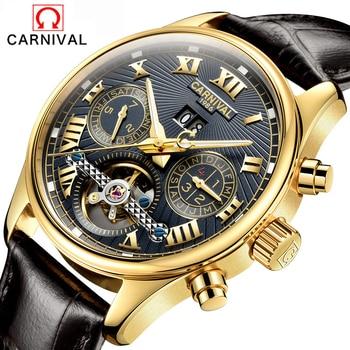 9510c8ca4d27 Relojes hombres Top marca de lujo carnaval tourbillon automático reloj  mecánico deporte de moda para hombre reloj Relogio Masculino