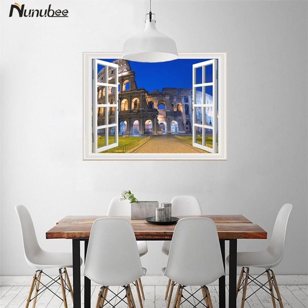 3d poster design online - Nunubee Self Adhesive Sticker 3d Paintings Poster Prints Vinyl Mural Removable Wall Art Wallpaper Nature