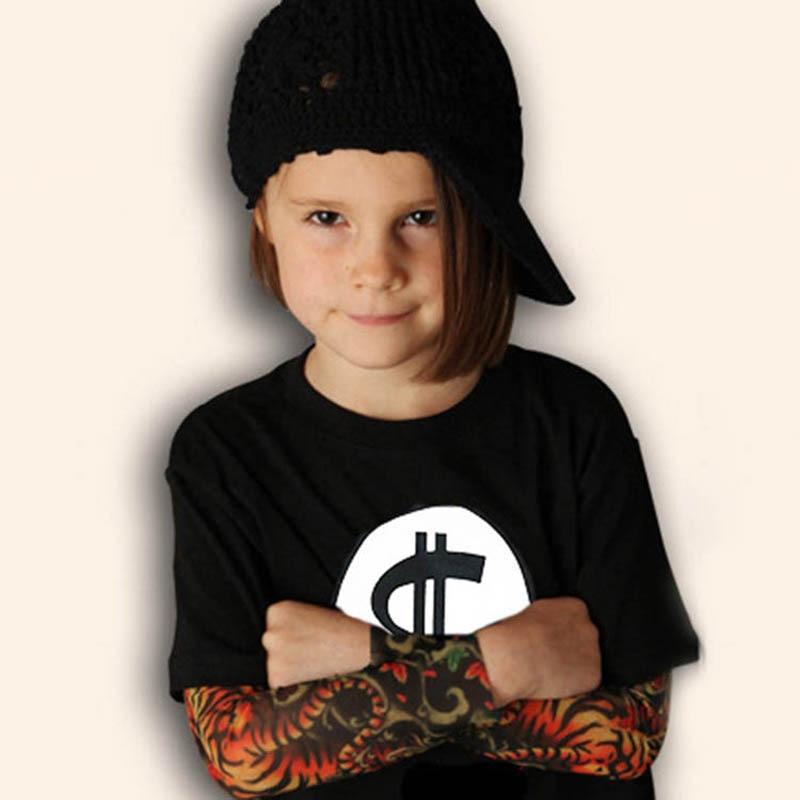 Novelty Tattoo Kids Boys T-Shirts Cotton Long Sleeve Children T Shirt Spring Autumn Baby Girls Tee Shirts Children Clothes 3