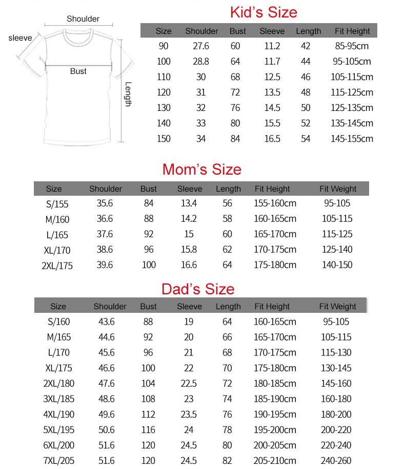 Dad Mom Baby Brief Print Familie Look T-shirt Familie Bijpassende - Kinderkleding - Foto 6