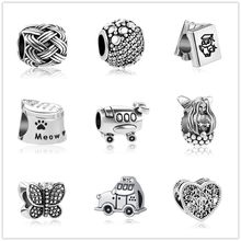 d3630b350 european 1pc butterfly car book silver bead charms Fit Pandora Charms  silver 925 Bracelet for women men diy jewelry EL085