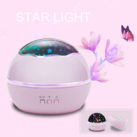 Romantic Colorful Starry Sky Projector LED Night Light USB Charging Rotation Starry Night Lamp For Baby Children Birthday Gift
