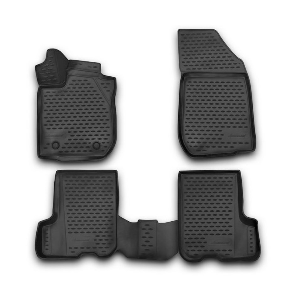 For Renault Sandero 2014-2018 3D floor mats into saloon 4 pcs/set Element NLC3D4132210K for haval h6 fwd 2014 2019 3d floor mats into saloon 4 pcs set element element3d9922210k