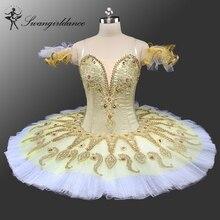 Здесь можно купить  latest gold platter tutu for competiton girls sleeping beauty ballet tutu classical professional ballet tutu pancakeBT9134B  Novelty & Special Use
