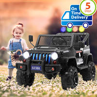Uenjoy Electric Kids Ride On Cars 12V Battery Motorized Vehicles W/ Wheels Suspension, Remote Control, MP3, lights, Black