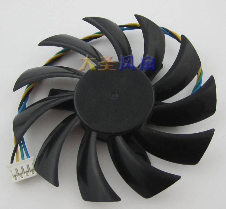 Emacro for Everflow T127010SH Server Round Fan DC 12V 0.32A, 75 mm Dia. 40mm 4-wire emacro for nonoise a8025h24b server square fan dc 24v 0 095a 80x80x25mm 2 wire
