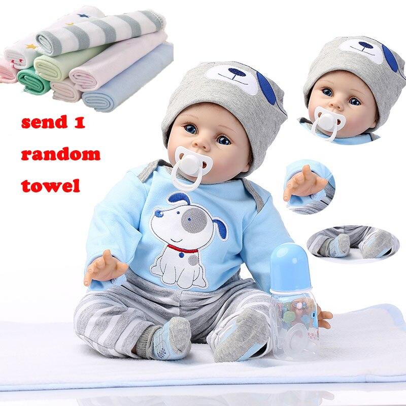 NPK 55cm Reborn Baby Doll silicona muñecas simulación bebé muñeca suave juguetes de goma Reborn niños pequeños juguetes para niños-in Muñecas from Juguetes y pasatiempos    1