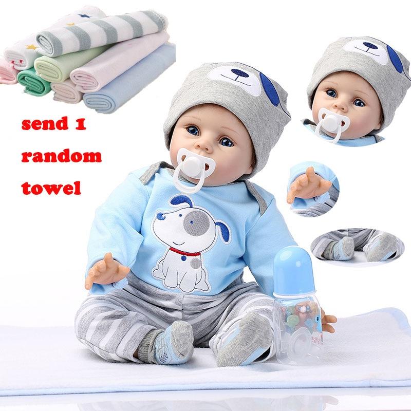 NPK 55cm Reborn Baby Pop Baby Siliconen Poppen Simulatie Kindje Zachte Pop Speelgoed Rubber Reborn Peuters Speelgoed Voor Kinderen-in Poppen van Speelgoed & Hobbies op  Groep 1