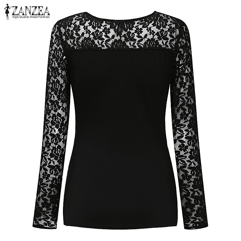 HTB1sR8gOXXXXXb4aXXXq6xXFXXX3 - Women Lace Blouses Tops 2017 Autumn Sexy V Neck Long Sleeve