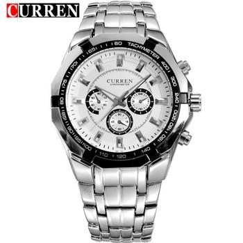 Waterproof 30M Quartz Watch For Men CURREN Fashion Stainless Steel Wristwatch 8084 Casual Sport Male Clock Montre Homme - discount item  44% OFF Men's Watches