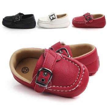 Bébé chaussures en cuir mocassin bébé chaussures noir berceau en cuir chaussures bambin premier marcheur chaussures pour 0-1 an bébés