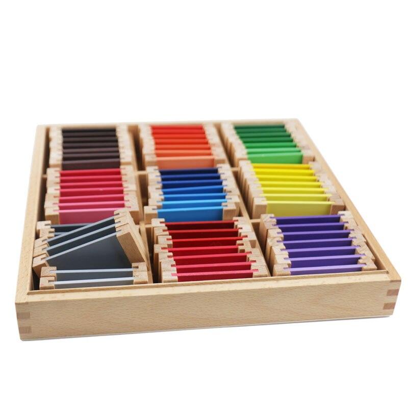 Montessori jouets éducatifs en bois Montessori matériaux sensoriels 27 couleurs reconnaissance jouets en bois pour enfants UB0666H - 3