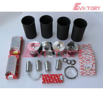 For Isuzu rebuild kit 4HE1-TC 4HE1 4HE1T piston+ring+liner+gasket+bearing