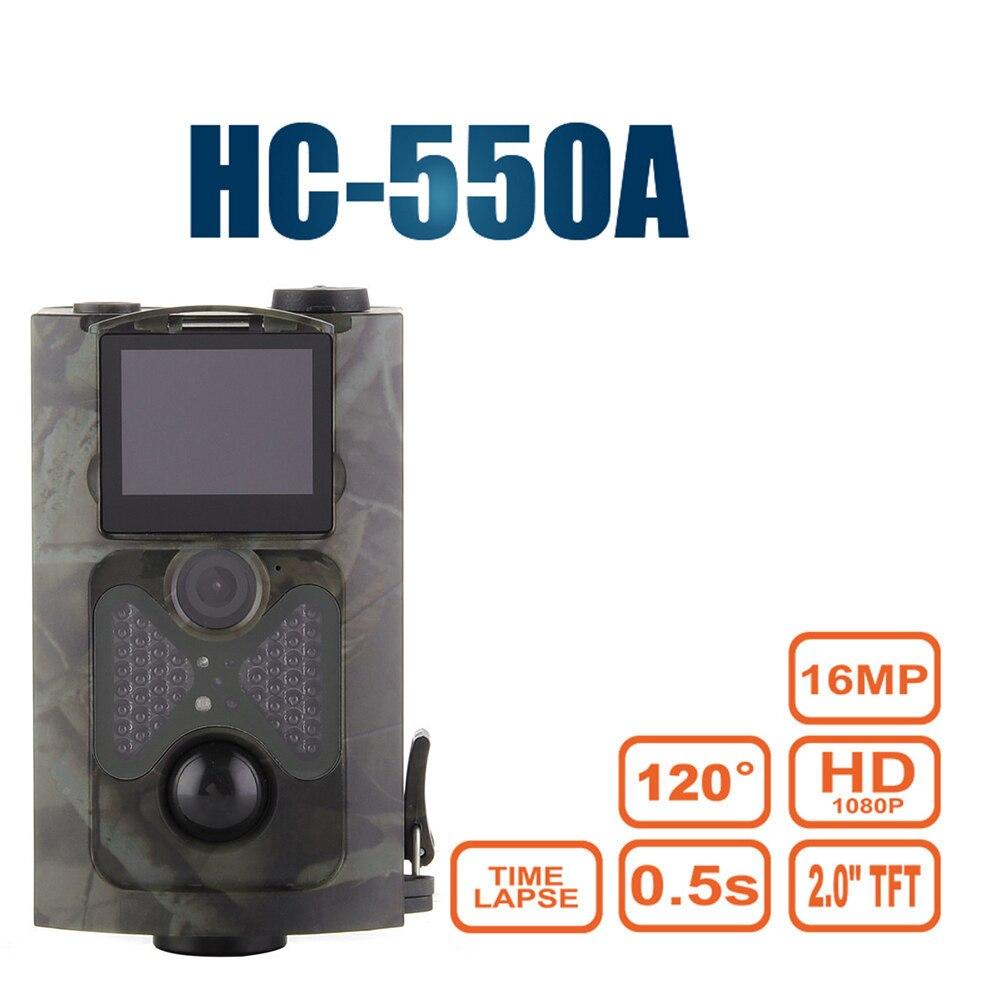 Охота Камера обновленная версия hc-550a 5mp Цвет CMOS 16mp 1080 P PIR Сенсор Multi zone ловушка Инфракрасный игра дикой природы Trail камера ...