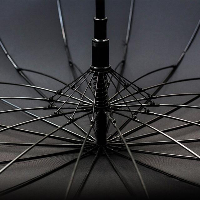 Big Umbrella - Wooden - Windproof - 16 Ribs 4