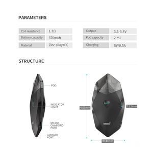 Image 3 - Original Smoant Karat Pod Starter Kit with 370mAh Battery 2ml Quarzt coil Cartridge Pod Magnet connection E cigarette Vape Kit