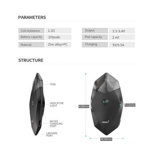 Image 3 - Оригинальный пусковой набор Smoant Karat Pod с аккумулятором 370 мАч 2 мл картридж Quarzt с магнитным подключением к электронной сигарете Vape Kit