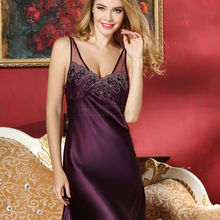 Night Gown Silk Summer Comfortable Sleep Dresses Ladies Sexy V-Neck Straps Nightdress For Women Short Sleeveless Night Gown Silk