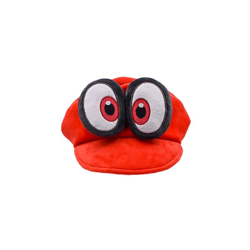 Super Mario Red Odyssey 2018 New Mario Cap Wearable Caps Unisex Adjustable Cotton Costume Halloween Plush Dolls Hot Toys 1