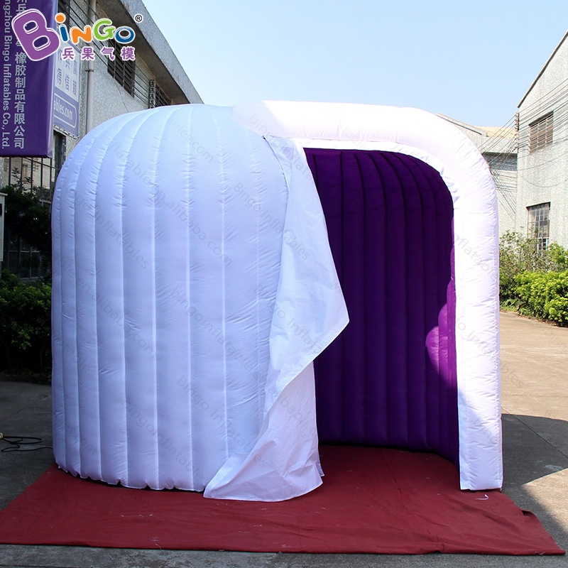 Graduation wedding used Inflatable photo kiosk booth props with LED light