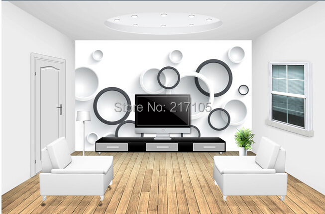 Custom modern wallpaper, circle, 3D wall murals wallpaper for the living room bedroom kitchen backdrop waterproof PVC wallpaper