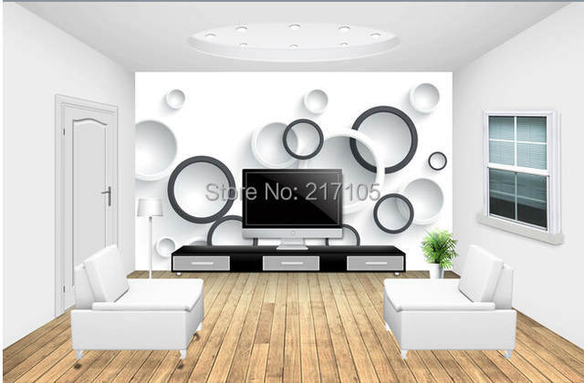 Custom Modern Wallpaper, Circle, 3D Wall Murals Wallpaper For The Living  Room Bedroom Kitchen