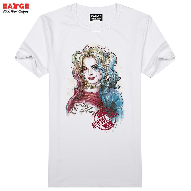 f0e96805b2c2 DC comic joker Suicide Squad T Shirt Harley Quinn T shirt Joker Cool  Novelty Funny Tshirt Style Men Women Printed Fashion tees-in T-Shirts from  Men's ...