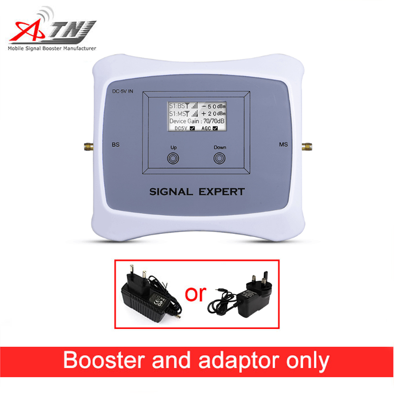 2G 4G Signal Booster Dual Band GSM DCS 900/1800MHz Mobile Signal Booster Cell Phone Signal Repeater Only Booster + Adapter