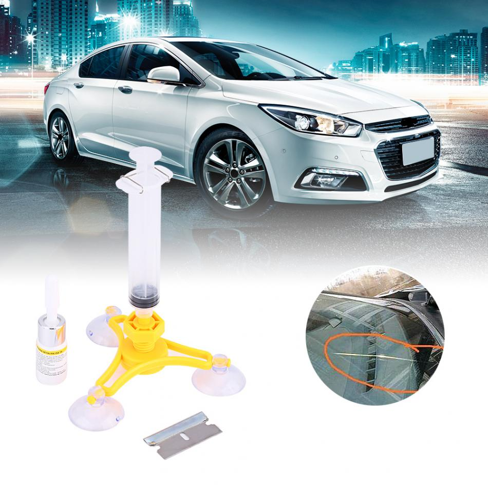 Car Auto Windshield Repair Kit Glass Crack Resin Sealer Windscreen Restore Fix Set Triangular 2018