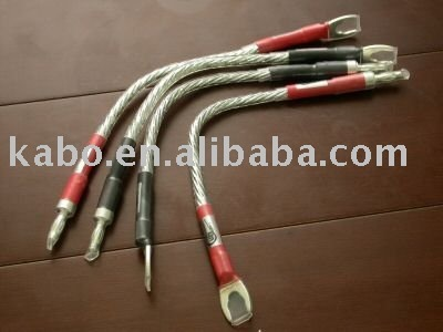 wireworld- RCA CABLEA Pair High Performance Flat Silver Plated Speaker Jumper Cables (OFC Core)