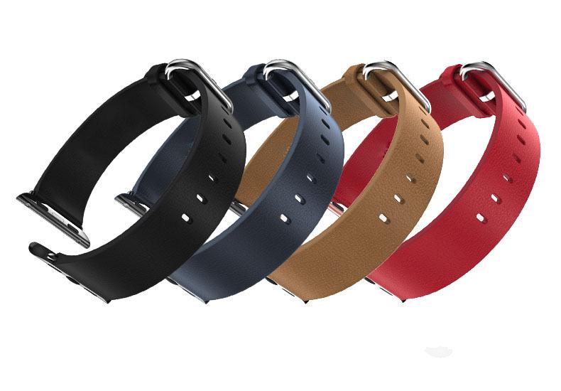 Prix pour URVOI nouvelle arrivée Classique Boucle bande pour apple watch série 1 2 sangle de luxe véritable bracelet en cuir boucle en métal Standard/Sport