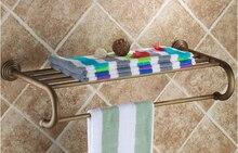 2016 мода высокое качество настенное крепление европа стиль всего латунь ванной вешалка для полотенец отеля вешалка для полотенце полки