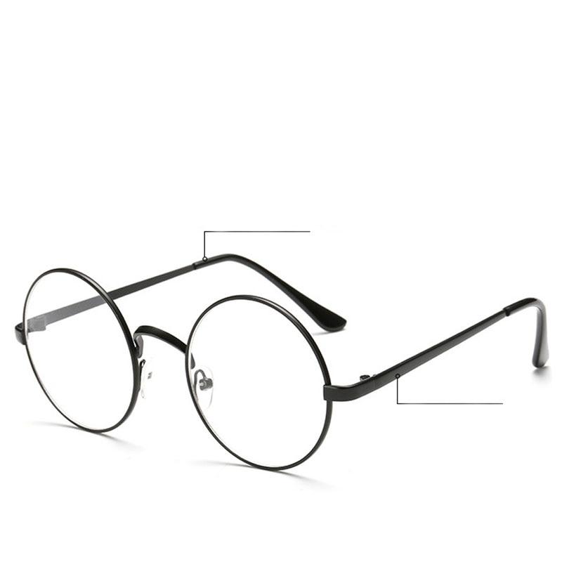 Vintage Unisex Retro Style Runde Metallrahmen Klare Linse Brille - Bekleidungszubehör - Foto 1
