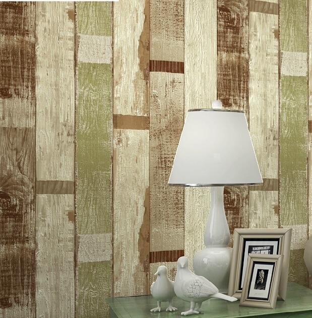 Mediterr neo imitaci n madera papel pintado 3d en relieve - Papel pintado aislante termico ...