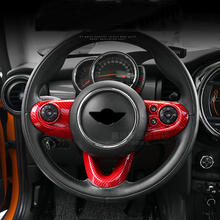 3pcs Carbon Fiber Car Steering Wheel Case Sticker Cover for Mini Cooper One F54 Clubman F55 F56 F60 New Countryman Car Styling phone stand car phone holder on steering wheel for bmw mini cooper f54 f55 f56 clubman countryman holder