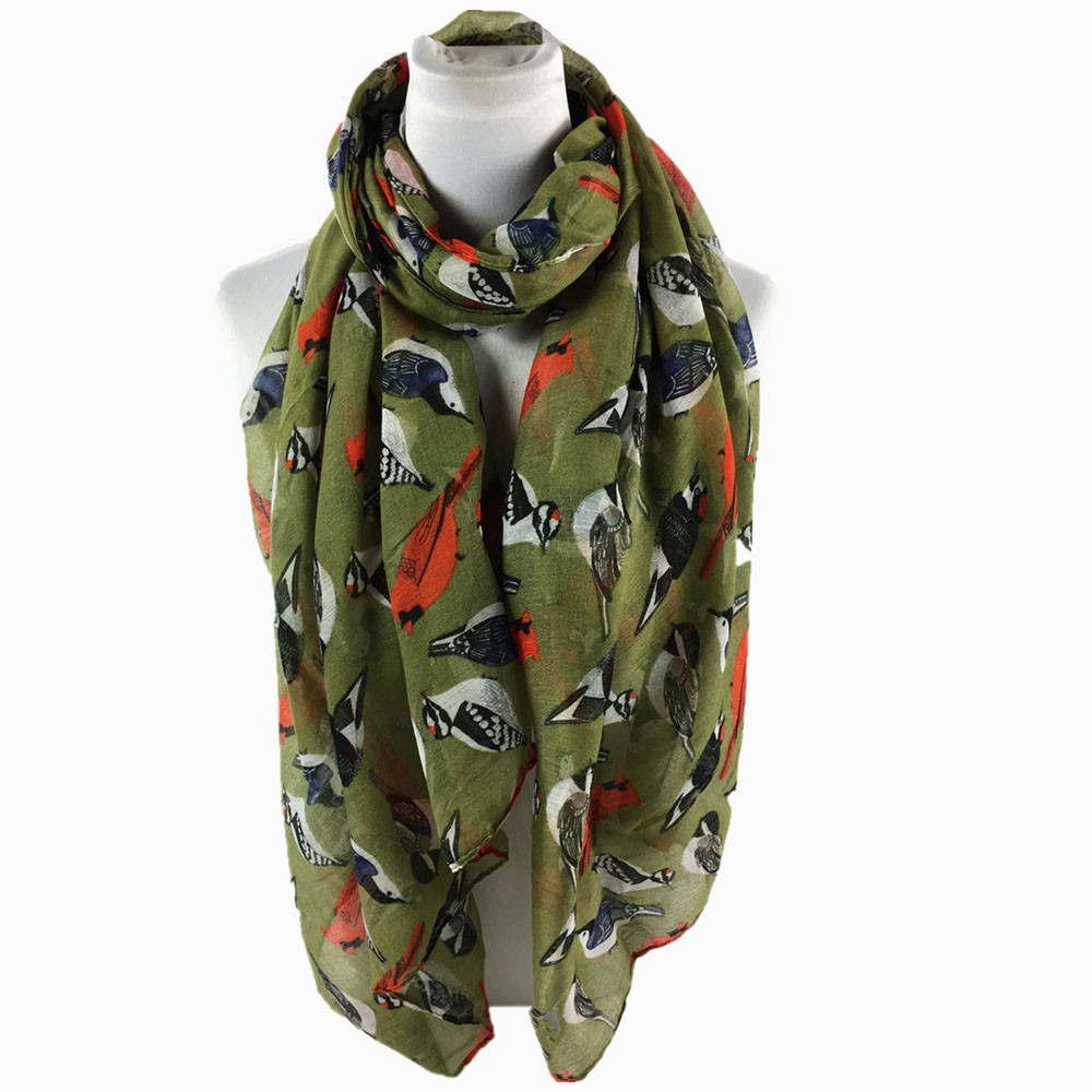 Women's Print Long Soft   Scarf     Wrap   Female Shawl Stole   Scarves   for Women Lady in Six Colour High Quality