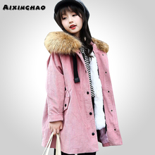 AIXINGHAO Winter Warm Boys Jackets With Fur Hooded Clothing