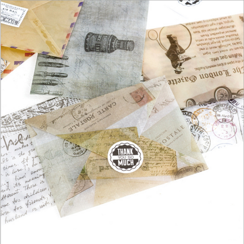 3pcs/lot European memory Retro letterhead small envelope writing ...