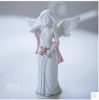 PRZY Silicone Flower Fairy Wizard Crafts Little Angel Girl Cake Decoration Handmade Soap Candle Fragrance Stone